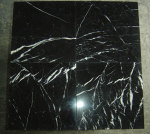 Chinese Black and White Marble Tile Nero Marquina pictures & photos