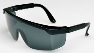 Adjustable Temples Safety Glasses with Clean Lens pictures & photos
