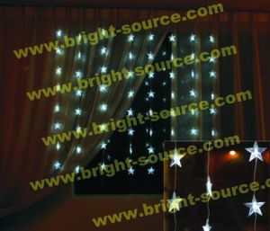 64L LED White Curtain with Star