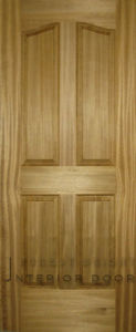 Nature Teak Veneer 4-Panel Curved Molded Door (MD-1121)