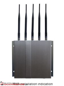 5 Band Cellphone WiFi Signal Jammer with Remote Control