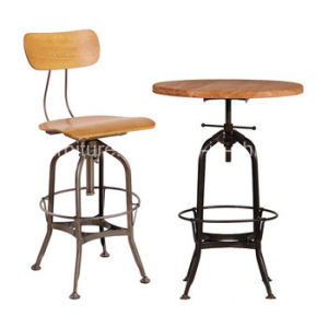 China 660a H65 Stw Commercial Swivel Bar Stools With Back China
