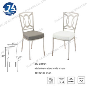 Modern Design Faux Leather Stainless Steel Dining Chair with Back