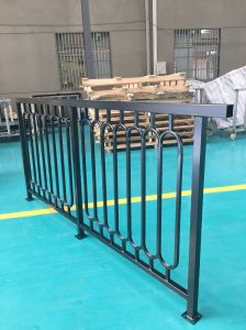 Black Powder Coated Quality Galvanized Steel Fence for Traffic and Balcony pictures & photos