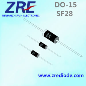 2A Sf21 Thru Sf28 Super Fast Recovery Rectifier Diode Do-15 Package pictures & photos
