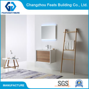 Hotel Supply Wall Mounted Wooden Bathroom Furniture High Gloss Painting Finished Luxury Bathroom Vanities Cabinet (#BC17-700C-28′′)