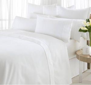 100% Cotton Fabric 350 600tc White Luxury Hotel Bed Linen