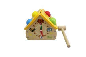 Hot Christmas Gift Wooden Punch Ball Toy with Dog House Shape for Toddler pictures & photos