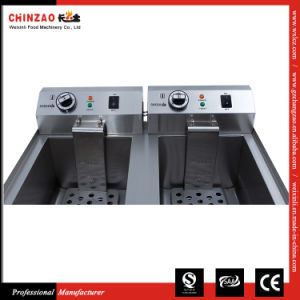 17L Twin Tanks Electric Deep Fryers Dzl-34V pictures & photos
