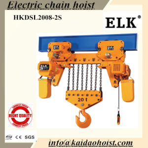 Elk 20ton Electric Chain Hoist with Low Headroom/Slipping Clutch-- (CE Approval) pictures & photos