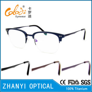Latest Design Beta Titanium Eyeglass Eyewear Optical Glasses Frame (8325)