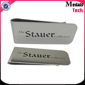 Personalized Logo Print Credit Card Holder with Money Clip pictures & photos