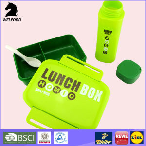 Promotion Gift Plastic Lunch Box Set with Water Bottle