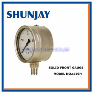 All Stainless Steel Solid Front Safety Pattern Gauge