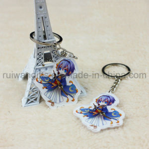 Custom Cartoon Printed Acrylic Keychain for Animation Promotion Gift pictures & photos