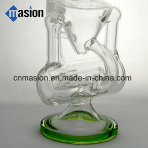 Oil Rig DAB Glass Perc Recycler Glass Smoking Pipe (BY010) pictures & photos
