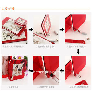 Acrylic Family Photo Frame Souvenir Photo Frame for Home Decoration pictures & photos
