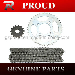 China Hot Sell High Quality Gn125 Chain and Sprocket Set Motorcycle Part pictures & photos