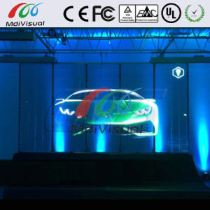 Outdoor Transparent LED Curtain Screen For Glass Building Wall