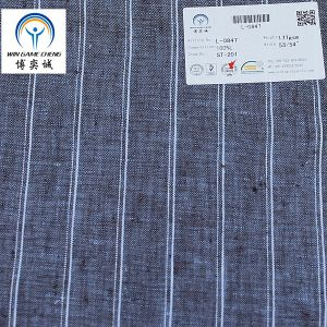 14*14 Yarn Dyed Stripe 100% Linen Fabric pictures & photos