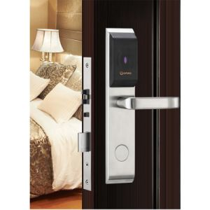 High Quality Wholesale Digital Electronic Keyless RFID Hotel Swipe Smart Key Card Door Lock pictures & photos