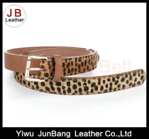 Leopard Grain PU Leather Belt Full Grain Leather Strip for Belt pictures & photos