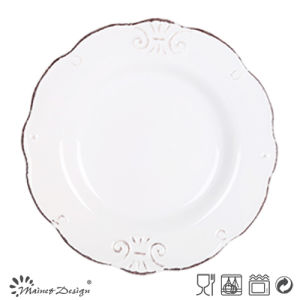 19.5cm Ceramic Salad Plate Embossed Design pictures & photos
