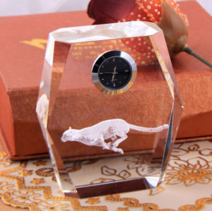 K9 Crystal Desk Clock Craft for Business Gift (KS06023) pictures & photos