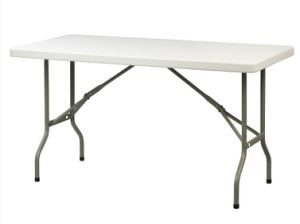 152cm/5FT Rectangle Portable Table, Trestle Table pictures & photos