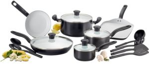 Amazon Vendor Ceramic Nonstick Oven Safe Cookware Set 16-Piece pictures & photos