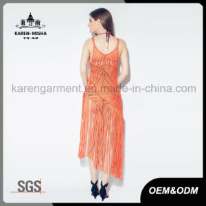 Sexy Fringe Maxi Handknit Swimwear Dress pictures & photos
