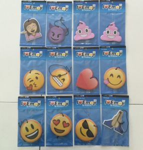 China Custom Bulk Hanging Emoji Car Paper Air Fresheners China