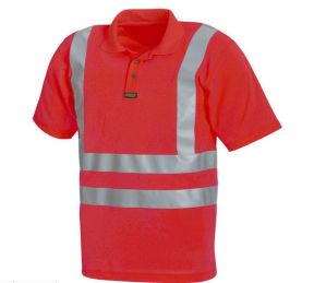 Safety Polo Shirt with High Visible Reflective Tape (DFJ022) pictures & photos