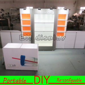 2016 New High Quality Trade Show Portable Reusable Easy-Assembly and Dismantle Modular Exhibition Booth with with Slatwall Panels and Lightbox Display pictures & photos