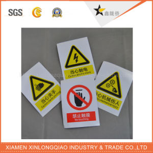 Warning Signs Attention Label Printing Paper Printed Self-Adhesive Sticker pictures & photos