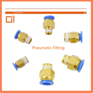 Pneumatic Fitting for Zhe Cylinder Brass Plastic (PC 12-01) pictures & photos