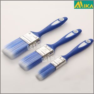 Rubber Plastic Handle Paint Brush Set