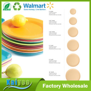 Anti-Microbial Going Green Shallow Dish Amboo Fiber Plate pictures & photos