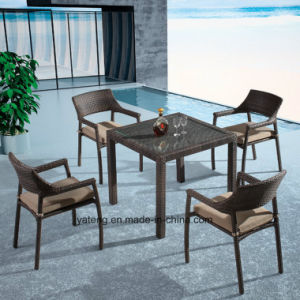 Good Quality Low Price Outdoor Dining Furniture With Stackable Chair Kd Table