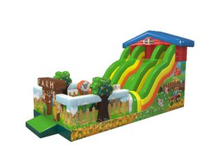Farm Themed Inflatable Slide Chsl1132