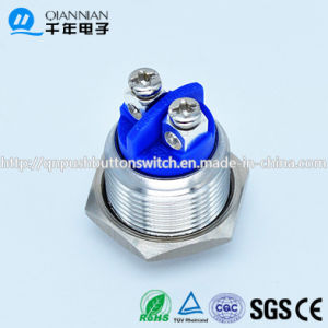 Qn16-A3 16mm Momentary Elevated Head Screw Pin Terminal Waterproof Metal Push Button Switch pictures & photos
