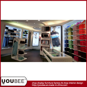 Fashion Garment Display Fixtures/Stand for Menswear Store Interior Design