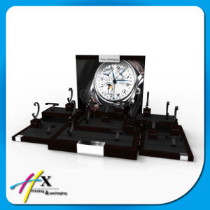 Black Watch Display Counter Set Luxury Wooden Watch Display Stand pictures & photos