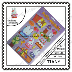 M Glittter EVA Puffy Stickers for Kid (XOL18)