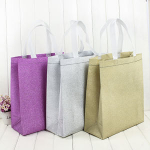 Christmas Holiday Paper Gift Store Packaging Shopping bag in Stock