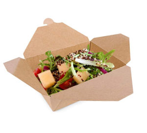 Food Level Eco-Friendly Kraft Paper Containers