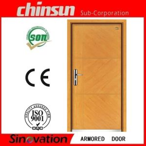 Latest Design Solid Wood Armored Door pictures & photos
