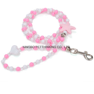 Beautiful Puppy Lead with Different Bead, Handwork Pet Leash pictures & photos