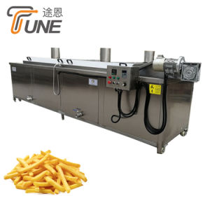 Commercial Automatic Gas Electric Onion Peanut Potato Chips Frying Machine Continuous Deep Fryer
