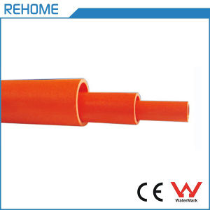 china 63mm size orange color pvc electrical pipe for conduit wiring rh rehome en made in china com